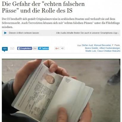 【海外発!Breaking News】イスラム国(IS)の手元に「未記入のパスポートが数万冊」と独紙。