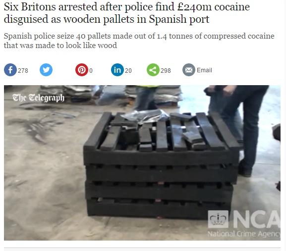【海外発!Breaking News】思わぬモノに化けていた450億円相当のコカイン! スペインの港で発見。