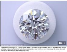 【海外発!Breaking News】コストは天然の半分、2週間で形成。人工ダイヤモンドに注目する人々