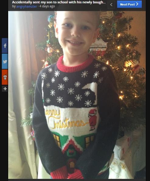 【海外発!Breaking News】園児のクリスマスセーターに「この柄はちょっと…」と先生(米)