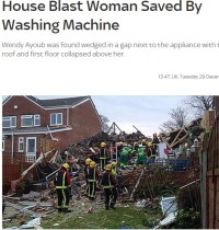 【海外発!Breaking News】頑丈な洗濯機が命を守った。73歳女性、自宅がガス爆発で(英)