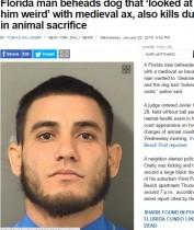 【海外発!Breaking News】精神疾患か 男が「顔つきが不快」と犬を斧で斬首(米)