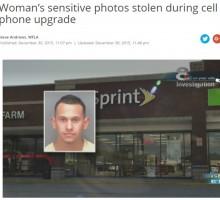 【海外発!Breaking News】携帯ショップ店員、女性客の画像データ盗む。機種変更データ移行で(米)
