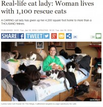 【海外発!Breaking News】猫1,100匹に豪邸をポン! 自身はトレーラー暮らしで「大満足」の米女性