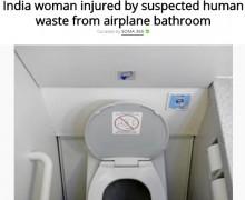 【海外発!Breaking News】氷塊と化した糞便で女性大ケガ、上空の旅客機から落下か(印)
