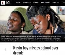 【海外発!Breaking News】ラスタ思想の壁 ドレッドヘアの少年「校則違反」と通学許可されず(南ア)