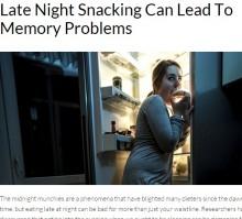 【海外発!Breaking News】「深夜に食べる癖がある人はアルツハイマーに注意」と米研究チーム