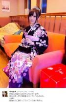 【エンタがビタミン♪】菊地亜美5年前、成人式の振袖姿に「全然違う人みたい」