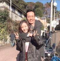 【エンタがビタミン♪】遠藤憲一と蓮佛美沙子、実年齢30歳差の仲良し2ショット
