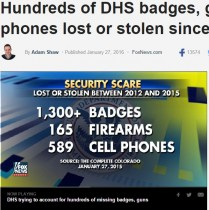 【海外発!Breaking News】米国土安全保障省、バッジ・銃・携帯電話など2千余りを紛失!