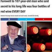 【海外発!Breaking News】なんと強靭な肝臓! 毎日ワイン4本空け、107歳まで生きたスペインの男性
