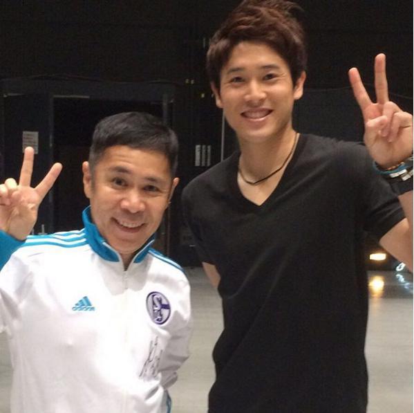 岡村隆史とサッカー・内田篤人選手(出典:https://www.instagram.com/okamuradesu)