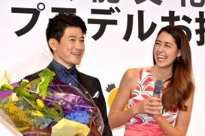 矢野浩二に花束を持ってお祝いに駆けつけた 森泉