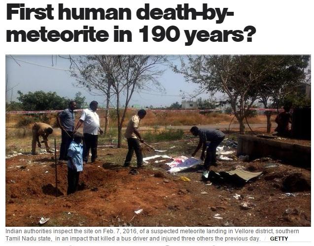 【海外発!Breaking News】隕石落下で男性死亡 1825年以来初の犠牲者か(印)