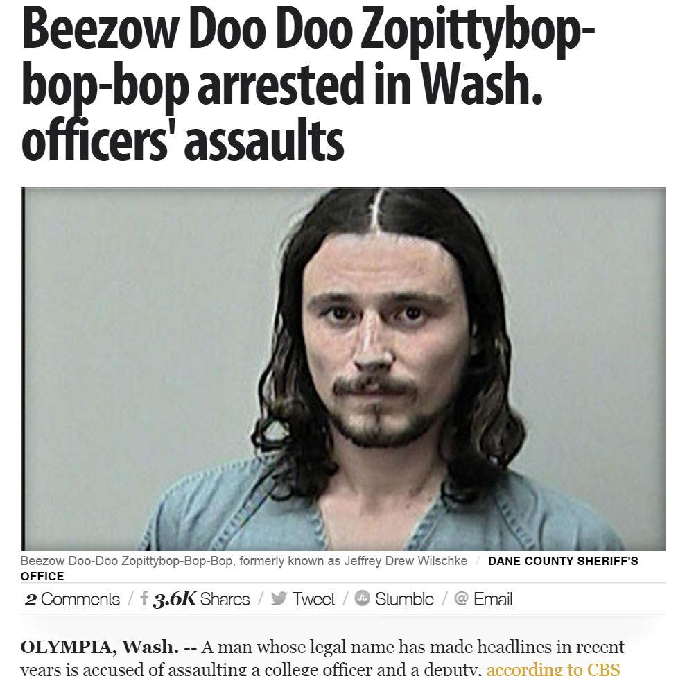 【海外発!Breaking News】警察官も爆笑 とんだ名前の男またしても逮捕される(米)