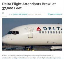【海外発!Breaking News】米旅客機、CA同士が大喧嘩につき緊急着陸!