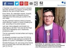 【海外発!Breaking News】カトリック教会のニセ司祭、大金を騙し取る 20年間誰も気づかず(米)