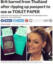【海外発!Breaking News】数ページが剥がされた旅券なぜ!? タイで入国拒否の英女性、驚きの理由語る