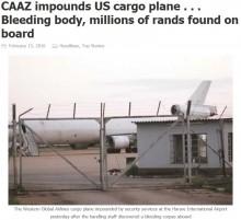 【海外発!Breaking News】現金輸送中の貨物機、中から男性の遺体が!(ジンバブエ)