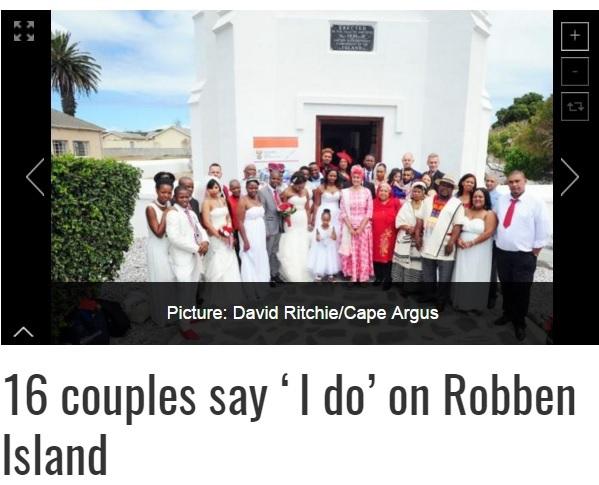 【海外発!Breaking News】バレンタインデーにカップル16組、世界遺産で結婚式を挙げる(南ア)