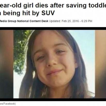 【海外発!Breaking News】幼児2人を助けた10歳少女、自らは車にはねられ死亡(米)