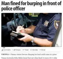 【海外発!Breaking News】公共の場でのゲップを許さないウィーン市警 男性が罰金刑に!