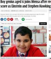 【海外発!Breaking News】6歳でIQ160超の英・天才児、アインシュタインの再来か