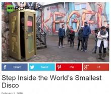 """【海外発!Breaking News】世界一ミニサイズのディスコ""""TELEDISKO"""" ベルリンで大人気!"""