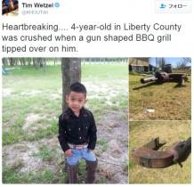 【海外発!Breaking News】4歳男児、庭の大型バーベキューグリルで圧迫死(米)