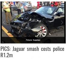 【海外発!Breaking News】ジャガーに激突 急ブレーキをかけた警察官、870万円の支払い命令(南ア)