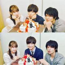 【エンタがビタミン♪】『家族ノカタチ』で千葉雄大、永尾まりや、永田卓也のトリプル誕生日祝い