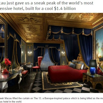 【海外発!Breaking News】「まるで宮殿」世界一高級なホテル、この夏マカオに誕生