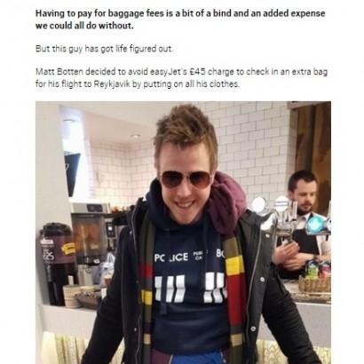 【海外発!Breaking News】空港チェックインで荷物が重量オーバー 男性、すべての服を着て飛行機へ(英)