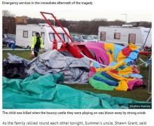 【海外発!Breaking News】巨大エアートランポリンで死亡事故 突風により150m吹っ飛ぶ(英)