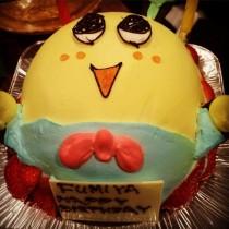 """【エンタがビタミン♪】RIP SLYME・DJ FUMIYA 誕生日を""""ふなっしー""""ケーキでお祝い"""
