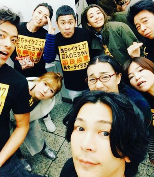 武田真治とめちゃイケメンバー(出典:https://www.instagram.com/shinji.takeda)
