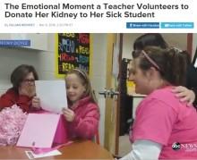【海外発!Breaking News】全米が感動 小学校教師、腎不全の教え子に腎臓を提供!