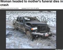 【海外発!Breaking News】親孝行だった娘、母親の葬儀に向かう途中スリップ事故死(米)