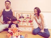 【エンタがビタミン♪】木下優樹菜・フジモン一家 ひな祭りのほのぼの家族ショット