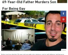 【海外発!Breaking News】60代父親、ゲイ告白した20代息子を射殺(米ロサンゼルス)