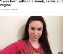 【海外発!Breaking News】生まれつき女性器が欠損 「ロキタンスキー症候群を理解して」とギリシャの27歳女性