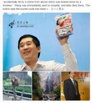 【海外発!Breaking News】中国の飴『大白兎』大ヒットさせた元会長、サルが転がした石で死亡
