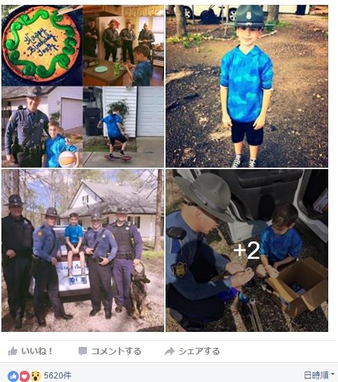 【海外発!Breaking News】Facebookはチェックされていた! ある誕生パーティに警察官サプライズ登場(米)