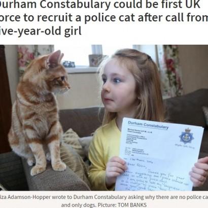 """【海外発!Breaking News】英ダラム警察署にまもなく""""警察猫"""" 犯人検挙に一役買うか"""