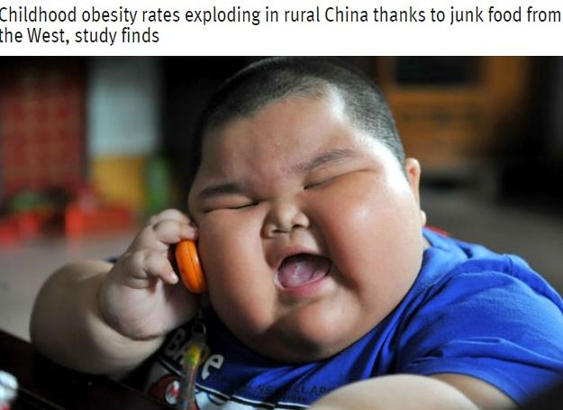 【海外発!Breaking News】まるで「ミシュランタイヤ」のキャラクター 中国農村部で少年少女の肥満急増