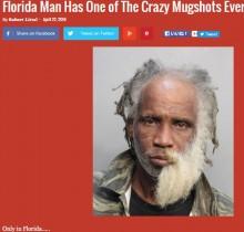 【海外発!Breaking News】仰天のマグショット 「左右の顔が別人」の男フロリダで捕まる!