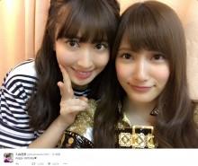 【エンタがビタミン♪】小嶋陽菜と入山杏奈 Happy Birthdayの2ショットがまるで「美人姉妹」