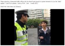 【海外発!Breaking News】交通違反の男、警察官に「私は銀河系から来た。無礼につき地球を滅ぼす」(中国)