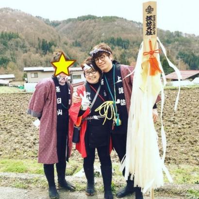 【エンタがビタミン♪】オリラジ藤森が家族とハッピ姿 地元長野で「御柱祭」満喫