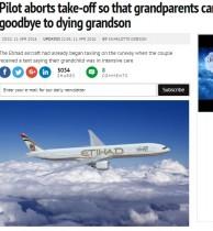 【海外発!Breaking News】エティハド航空機長が英断 「乗客の孫が危篤」に離陸を寸前で中止